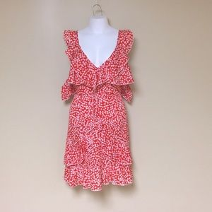 Red and white floral summer sundress